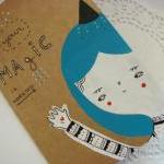 Hand painted OOAK Moleskine journal..
