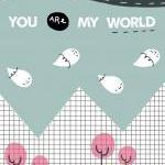 """You are my world 5""""x7"""" pr.."""