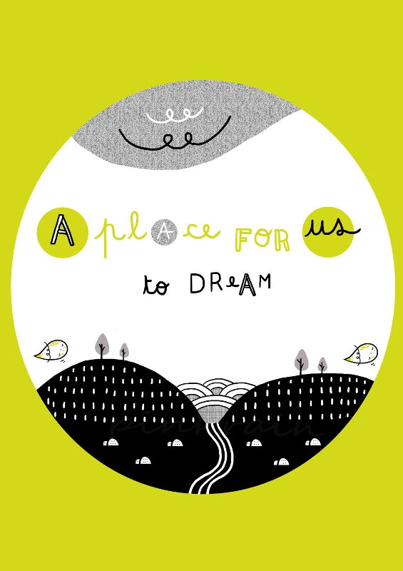 A place for us to dream A4 - digital print illustration wall art