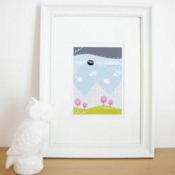 """You are my world 5""""x7"""" print illustration wall art"""