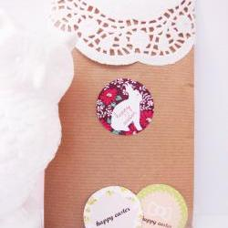 """Round Easter Printable Gift Tags PDF - set of 15 - 4 cm - 1.58"""""""